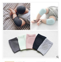 Wholesale Boy Leg Shorts - Baby soft Knee Pads Girls Boys combed cotton Protector Kids Kneecaps Children Short Kneepad Baby Leg Warmers 5 Colors