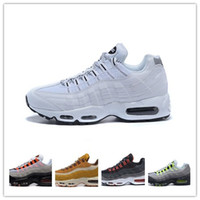 Frete grátis novo Air Cushion 95 OG QS Greedy Premium OG Neon Cool Gray sneakers botas mens running shoes