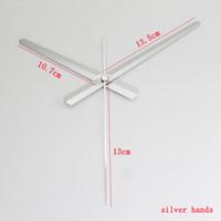 relógios de alumínio venda por atacado-100 sets skp eixo prata mãos de metal material de alumínio diy relógio de quartzo relógio de mão de alta qualidade diy relógio kits