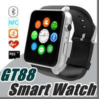 Tarjeta SIM Bluetooth Sports GT88 Smart Watch con monitor de ritmo cardíaco y reloj de bolsillo Teléfono Mate Smartphone independiente para Android IOS M-BS