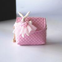 Wholesale pink bags for little girl resale online - DHL New PU leather Kid Bags Designer Children Bag Good Gift for Little Kids Girls Mini Summer Bag Girl Purse Candy Color CK060