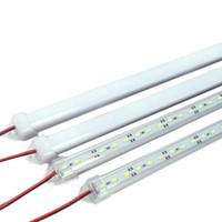 7w llevó la cáscara blanca al por mayor-5630 SMD 50cm 36 LED rígido de la barra de gabinete de la barra de luz cubierta de aluminio + pc cubierta DC12V LED barra de luz rojo / azul / verde caliente / fresco / blanco puro