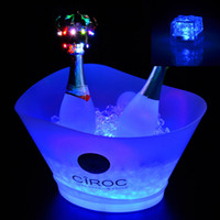 Wholesale Wholesale Bar Ice Buckets - 11% Durable Powerful Ice Cube for Champagne bucket Lights Birthday Party Bar Night Club Activities Lights Christamas Lightings