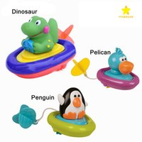 Wholesale Wholesale Windup Toys - Pull Rope Wind Up Toys Wind Up Water Bath Toy Cute Animal Funny Windup Swimming Water Toy for Kids with Retail Package
