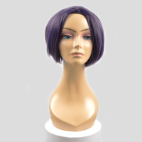 BurHair Mix Color 2017 New Style Medium Synthetic Cosplay Wigs Wave Black purple Color Hair Wigs for Girl