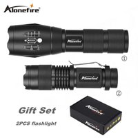 Wholesale Led Mini Lights Set - AloneFire Gift set E17+SK68 powerful XM-L T6 LED Torch CREE LED mini Flashlight Waterproof Lighting high-power Flashlight