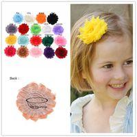 perişan şık saç aksesuarları toptan satış-Toptan-19 ADET Shabby Chic Çiçekler Yapay Gül Çiçek Buketi Bebek Kız Saç Aksesuarları Diy Çiçekler Kafa için