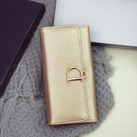 Wholesale Coin Holder For Women - 2017 Fashion High Capacity Hasp Women Wallets Golden Lady Long Day Clutch Wallet High Quality Purse For Women st366-9