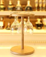getränkeregalhalter großhandel-Die Bar Weinregal Massivholz hängt Rotwein Pokal Rack Kreative Rotwein Glas Getränkehalter Europäische Mode Innenausstattung
