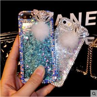 Wholesale Diamond Phone 4s - 30PCS Rhinestone phone case For iphone 7 7plus 6s 6plus 6s 6 5s 4s Diamond phone case