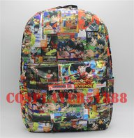 Wholesale Dbz Cell - Wholesale- Backpack Dragon Ball Z DBZ Backpack print School Bag