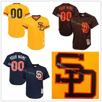 Baseball blank mesh jerseys - cheap Men s Custom San Diego Padres blank Baseball Jersey mesh Embroidery Collection For Sale stitched