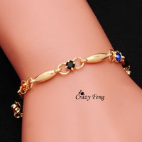 Wholesale Hot Shiny Girls - Wholesale-New Arrival Free Shipping Brand shiny 18K Gold plated hot Charms Bracelets For Girl Women's Jewelry anklet Austrian Crystal
