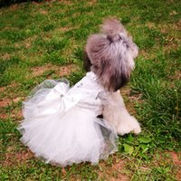 Wholesale Dog Online - 1 Piece Wholesale cat dog Lovely Wedding Clothes new fashion Online Summer Small Dog Clothes free shipping 4-1801