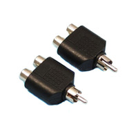 tv rca plug оптовых-RCA AV Audio y Splitter Plug адаптер 1 штекер 2 Женский X2 разъем кабель ТВ ведущий конвертер