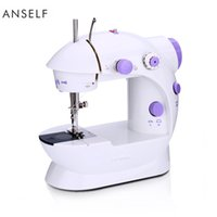 Power Adapter or Batteries speed pedal - Anself Mini Household Purple Electric Sewing Machine Speed Adjustment with Light Foot Pedal AC100 V H16669X