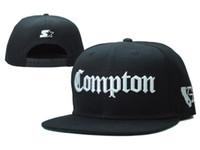 Wholesale Snapback Hats Compton - 2017 SSUR Snapback Cap Compton Black White Hats hip pop mens women classic Cheap fashion adjustable snapbacks caps,High quality street hat