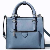 Wholesale Smile Handbags - Wholesale- 2016 new famous brand women fashion handbag ZA bag smile vintage women leather handbag shoulder messenger bags small tote M7-334