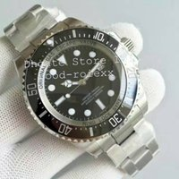 Wholesale Top Waterproof Mechanical Watches - Super Top Noob Factory V7 Black Dial Mens Automatic Eta 3135 Watch Men Rotating Ceramic Bezel Waterproof Dive Sea 116660 Waterproof Watches