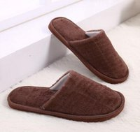 Wholesale Grey Wood Floors - Cotton slippers men women lovers Non-slip indoor candy color Plush flat warm Mute Home autumn and winter wood flooring eva slippers Cotton m