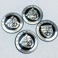 Wholesale Wholesale Hub Covers - 56mm 3D Aluminum Jaguar logo Car Wheel Center Hub Cap sticker rim Dust-proof Badge emblem covers decal styling