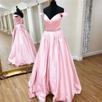 Wholesale Cheap Dress Jackets For Women - Elegant Evening Gowns Cheap Vestido Longo De Festa Para Casamento 2017 Pink Satin Long Prom Party Dresses for Women