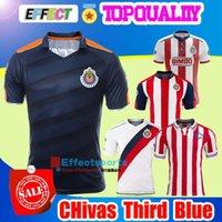 Wholesale Men Shirts Navy - 2017 Chivas de Guadalajara third Dark blue soccer jersey thai quality 2017-2018 Chivas de Guadalajara third Navy blue soccer football shirts