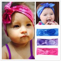 Wholesale new girls accessories for sale - New Europe Baby Girls Elastic Bunny Ear Cotton Headbands Infant Kids Bandhnu Hairbands Children Bow Hair Accessories Color KHA241