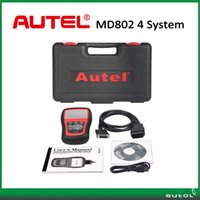 Wholesale Scanner Maxidiag - Wholesale- Free DHL Ship !!! Autel MaxiDiag Elite MD802 for 4 System With Datastream Model Engine,Transmission,ABS and Airbag Code Scanner