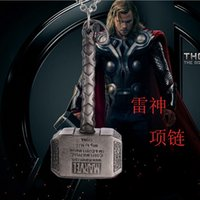 Vente en gros-Thor Marteau Collier, Dark World NecklacesPendants Classic Movies Exquise Pendentifs Colliers Mode Hommes Bijoux