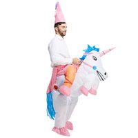 Wholesale inflatable halloween - Adult Inflatable Costume Christmas Cosplay unicorn Animal Jumpsuit Halloween Costume for Women Men