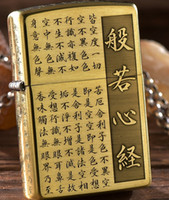 Wholesale Brass Lighters - Wholesale- zpo brand brass Five carved heart Buddha Lighter with logo box
