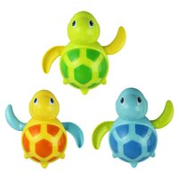Wholesale Small Wind Up Toys - Wholesale- Hot New born babies swim turtle wound-up chain small animal bath toy classic toys Gift Dec05