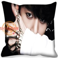 Wholesale Pillow Case High Quality BTS Bangtan Boys Style throw Pillowcase Square Zippered Pillow Cover Custom Gift H