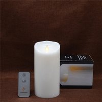 Wholesale Real Flame - Luminara Candle with Movable Flame Battery Operated Flameless Real Wax Candle Free Remote