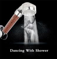 filtros cromados venda por atacado-Head Banheiro chuveiro Terapia da Água Cabeça de chuveiro Filtro Transparente Saving Rainfall Shower Filter Cabeça Alta Pressão ABS spray