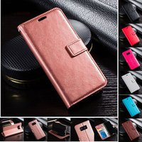 Wholesale Iphone Wallet Dhl - PU Leather case Retro Wallet Phone Case With Card Slots Filp Stand Photo Frame For Samsung s8 s8plus iphone 8 7 7plus with DHL free