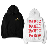 Wholesale Hooded Tops For Women - Wholesale-The Life Of Pablo Kanye West pullover hoodies for men women long sleeve hooded hip hop autumn casual top sweatshirts S-XXXL