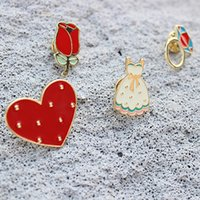 Vente en gros - 1PC Amazing Female Elegant Pins Badge Broach Unique Broche en tissu Decorative Cute Heart Folwer Collier parapluie Broach Broche Broche