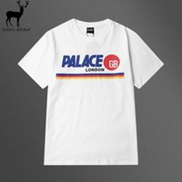 Wholesale Mens Hooded T Shirts - Wholesale- Aelfric Eden Men T Shirt Palace Skateboard T-shirt Mens GB London Fashion Tee Top Pally-pal Print White Short Sleeve Tshirt