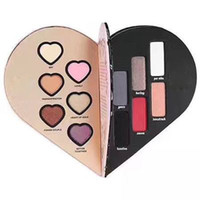 Wholesale Makeup For Girls - 2017 To heart shape makeup palette eyeshadow long-lasting Face Pressed eyeshadow 6 Color cosmetics for girls VS KYLIE