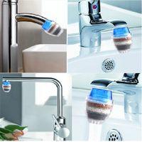nouveaux robinets achat en gros de-Nouveau Tap Filtre Purificateur de charbon actif Filtre à eau multicouche de fournitures de cuisine domestique Purificateur d'eau pratique IA694
