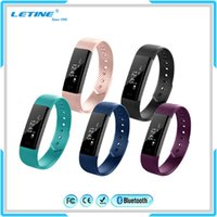Wholesale Watch Dispaly - ID115 OLED screen Support 12H 24H time dispaly life waterproof Usb charge Fitbit watch smart band for smartphone Free Shipping