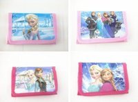 Wholesale Cheap Change Purses - Cute Cartoon Wallet Bay Kids Coin Purse Change Bags Elsa Anna Character Bags Wholesale Cheap Promotion Gift for Boys Girls