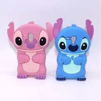 Wholesale Galaxy S4 Animals 3d - 3D Stitch Lilo Movable Ear Cartoon Soft Silicone Rubber Gel Case For Samsung Galaxy S3mini S3 mini S4 S5 S6 S7 Edge A3 J3 Animal Cute Cover