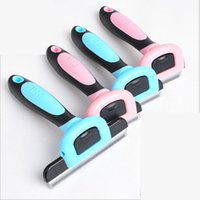 Wholesale Dele Pet Comb - DELE Pet Grooming Tool Hair Removal Brush Comb for Dogs Cats Brush Detachable Hair Shedding Trimming Wholesale