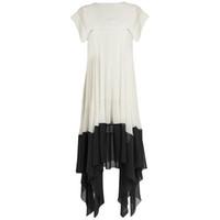 vestido de murciélago asimétrico al por mayor-Alta calidad nueva moda 2017 diseñador runway dress mujeres batwing manga color block vestido asimétrico