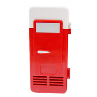 Wholesale Red ABS V W USB Car Portable Mini Drink Cooler Car Boat Travel Cosmetic Fridge