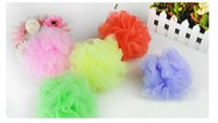 Wholesale Multi Colored Sponges - good quality multi-colored soft bath flower showering ball easily make bubbles soft and comfortable nylon material