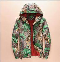 Wholesale Coats Jackets Woman Print - 2017 Fashion Casual Outdoor Tiger Jungle Jacket Autumn Summer Sunproof Windproof Waterproof Men Women Luxury Zipper Sports Skin Coat